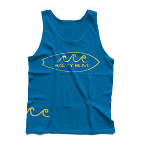 The Surf's Up Tank (Turqoise/Yellow Print)