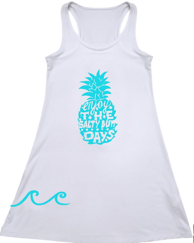 Pineapple Tank White Performance Dress