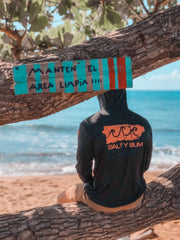 Hooded Performance Fishing Tee Puerto Rico Edition Black