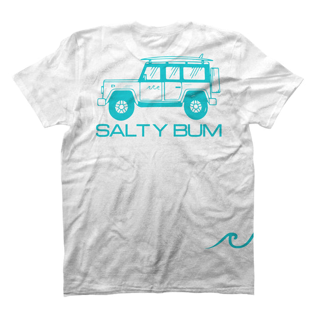 The Salty Bum Wonderer Tee White