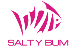 SALTY BUM FISHIN DECAL PINK