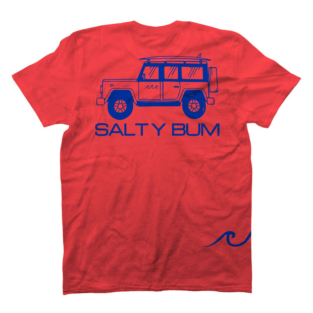 The Salty Bum Wonderer Tee Coral