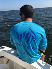 Fishin' Performance Tee Blue
