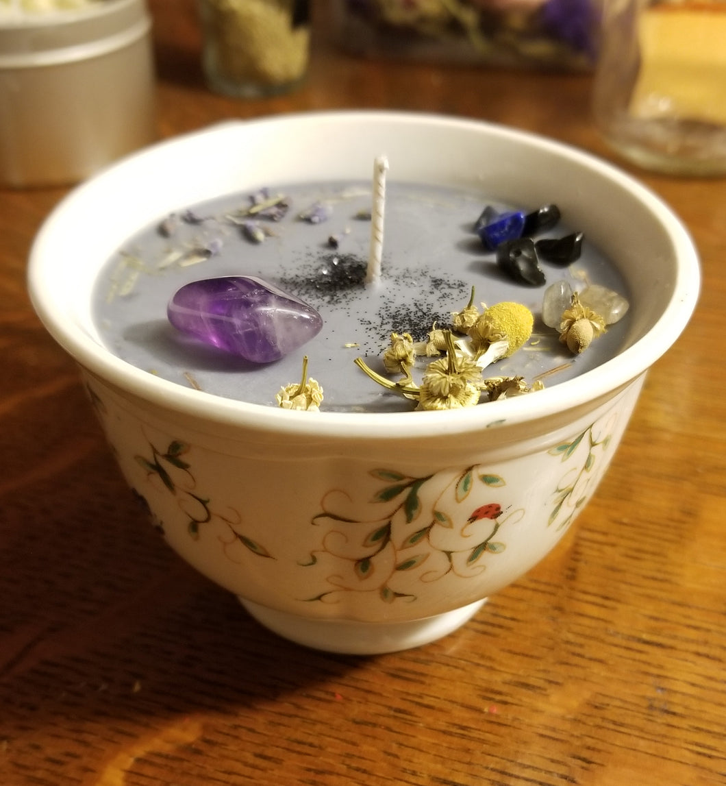 Magickal Divination Teacup Candle