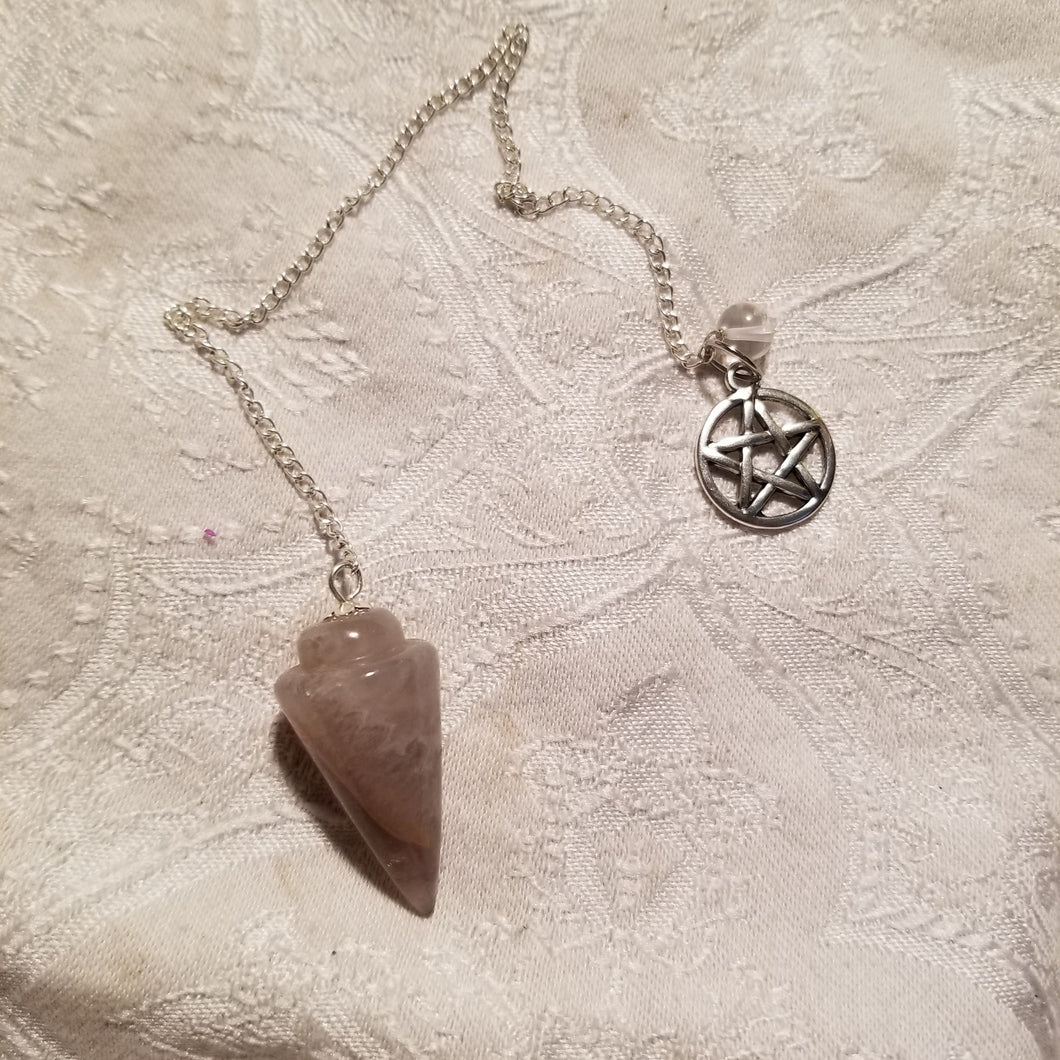 Smoky Quartz Pendulum with Pentacle