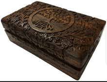 Load image into Gallery viewer, Wooden Altar Box Tree of Life