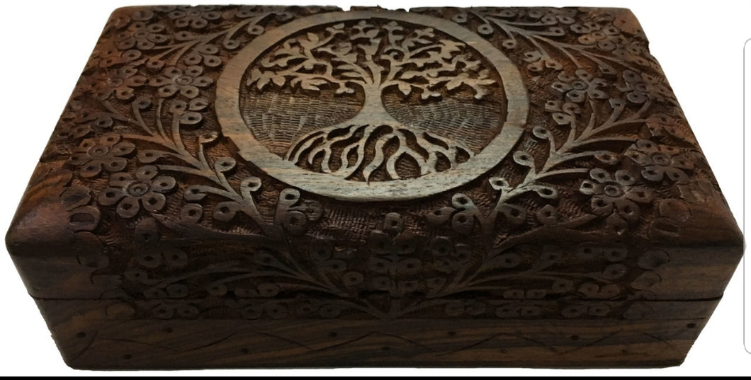 Wooden Altar Box Tree of Life