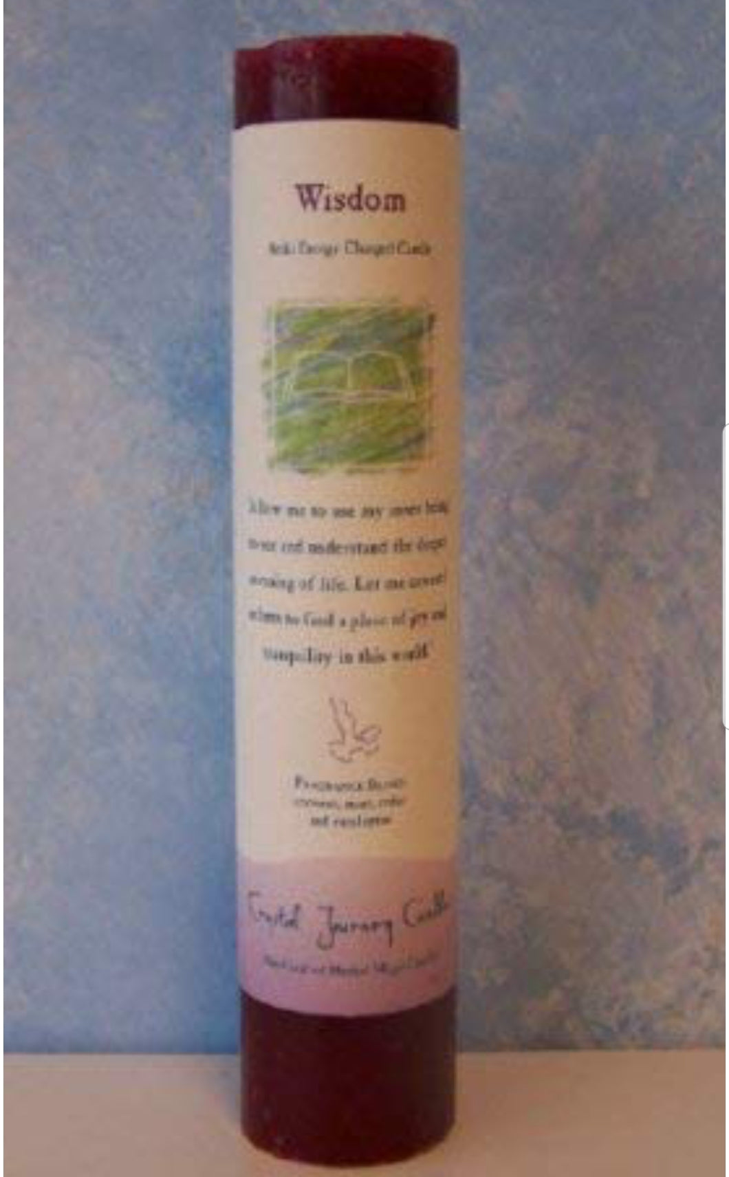 Reiki Charged Pillar Candle-Wisdom
