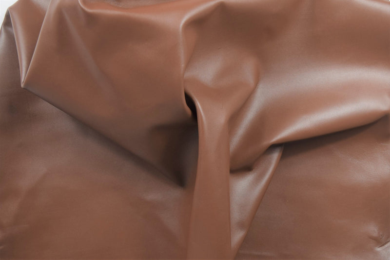 OXFORD BROWN LEATHER HIDE NAPPA SKIN 0.7mm