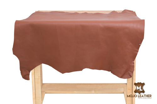 SADDLE BROWN LEATHER HIDE NAPPA SKIN 0.7mm