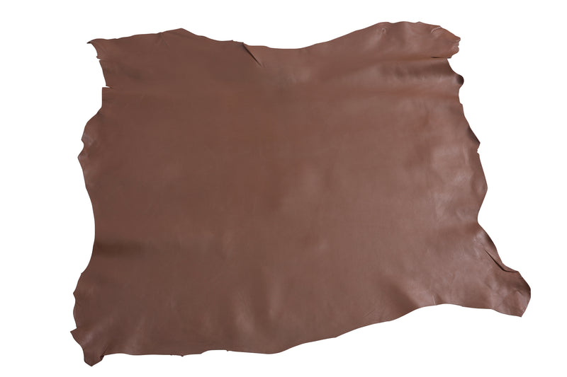 COFFEE BEAN BROWN LEATHER HIDE NAPPA SKIN 0.7mm