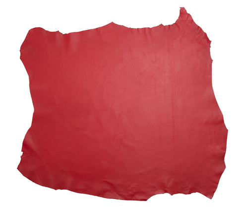 PASSION RED LEATHER HIDE NAPPA SKIN 0.7mm