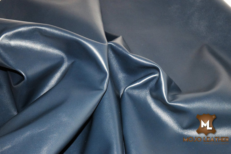 CLASSIC NAVY LEATHER HIDE SKIN NAPPA  0.8 mm