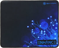 ENHANCE Large Gaming Mousepad Mat with Non-Slip Natural Rubber Base, Anti Fray Stitching & Low Friction Surface Fabric for Smoot