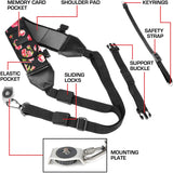 TrueSHOT Rapid Fire Camera Neck Strap Sling with Adjustable Neoprene Design and Gliding Buckle by USA GEAR