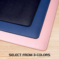 ENHANCE PU Leather Mouse Pad - Faux Leather Desk Mat Protector Extra Large - Water and Stain Resistant, Non-Slip Grip and Stitched Edges - Great Office Desk Decor and Home Office Accessories (Pink)
