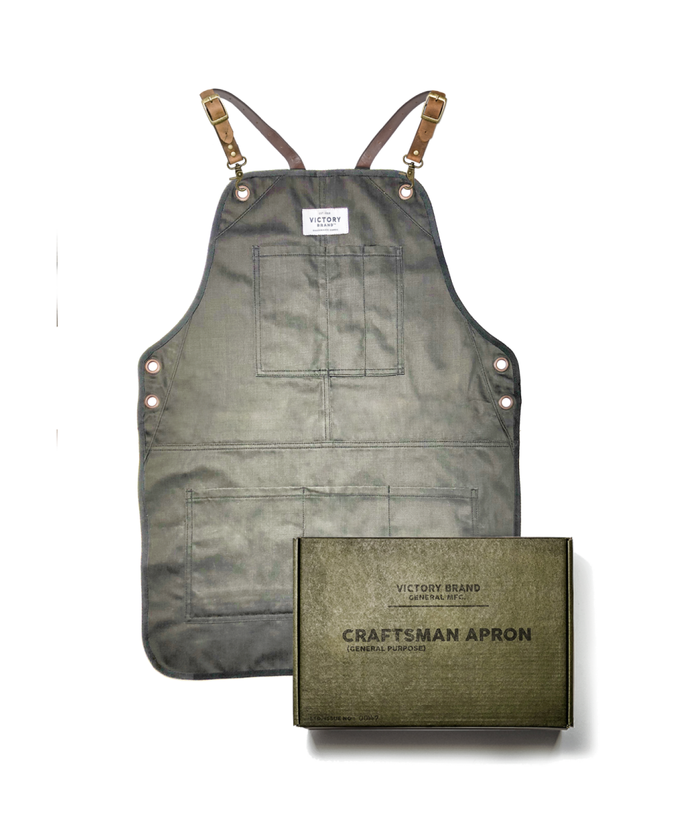 LIMITED EDITION GREEN CRAFTSMAN APRON WITH FREE SAFE HANDS