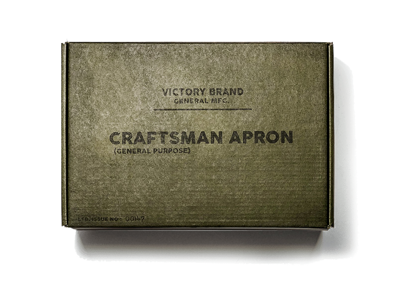 Vintage Military Green Craftsman apron Box