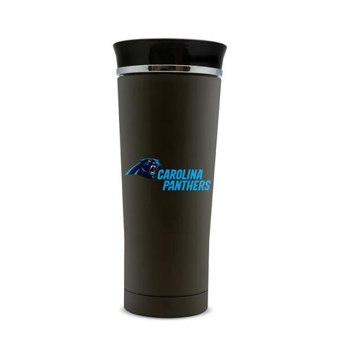 CAROLINA PANTHERS STAINLESS STEEL LEAK PROOF FREE FLOW THERMO MUG 18 OZ.