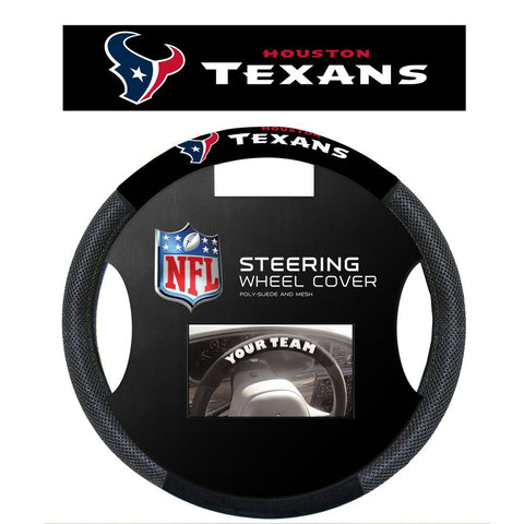 NFL Houston Texans Poly-Suede Steering Wheel Cover