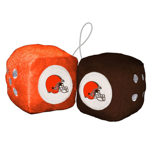 NFL Cleveland Browns Fuzzy Dice