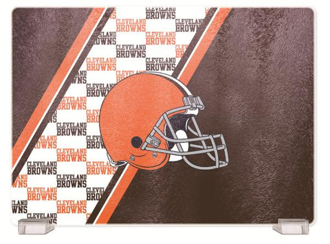 CLEVELAND BROWNS TEMPERED GLASS CUTTING BOARD