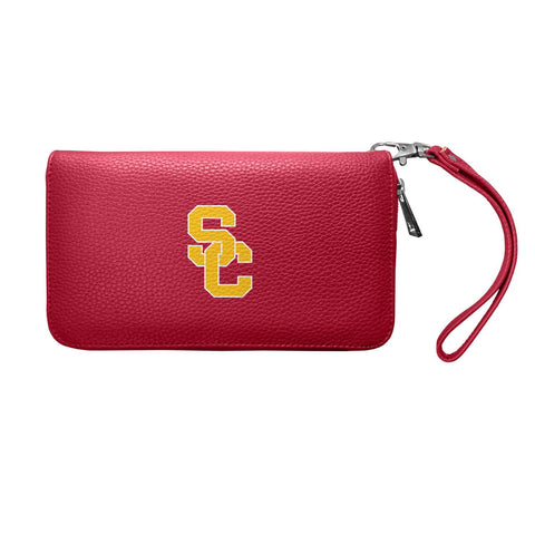 USC Trojans Zip Organizer Wallet Pebble (Dark Red)