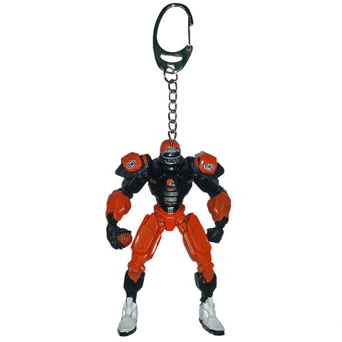 Cleveland Browns Keychain Fox Robot 3 Inch Mini Cleatus