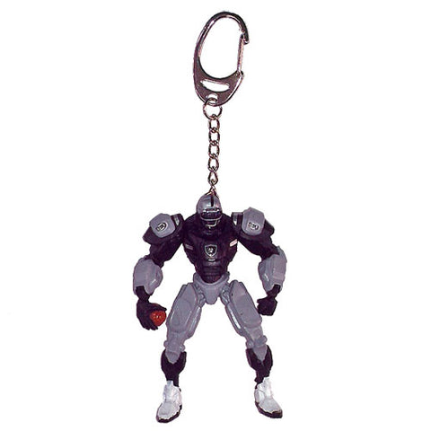 Oakland Raiders Keychain Fox Robot 3 Inch Mini Cleatus