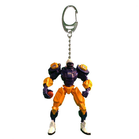 Los Angeles Chargers Keychain Fox Robot 3 Inch Mini Cleatus