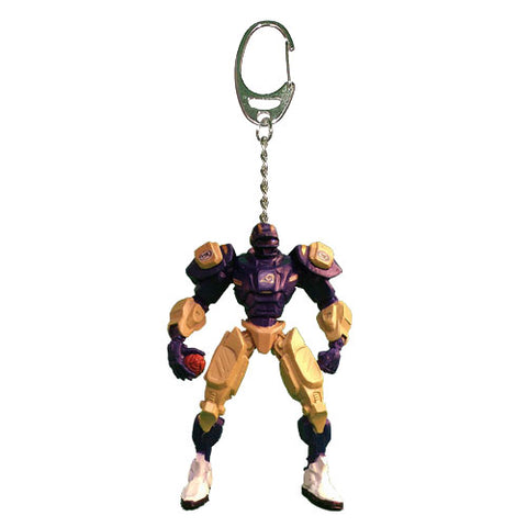 Los Angeles Rams Keychain Fox Robot 3 Inch Mini Cleatus