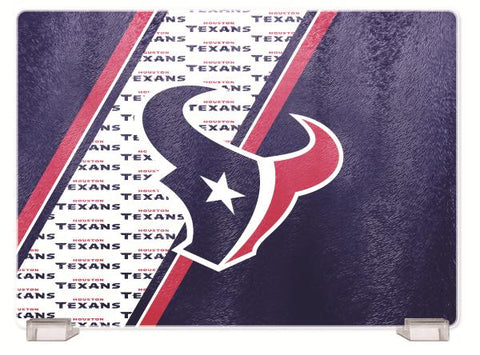 HOUSTON TEXANS TEMPERED GLASS CUTTING BOARD