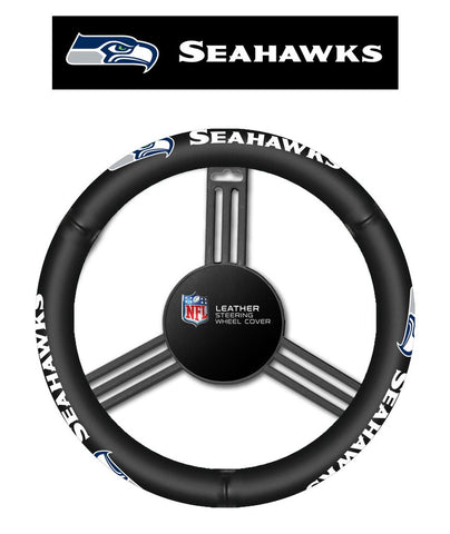NFL Seattle Seahawks Leather Steering Wheel Cover