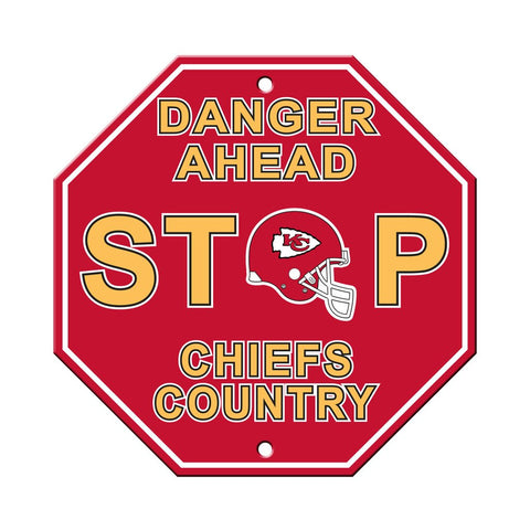 NFL Kansas City Chiefs Stop Sign
