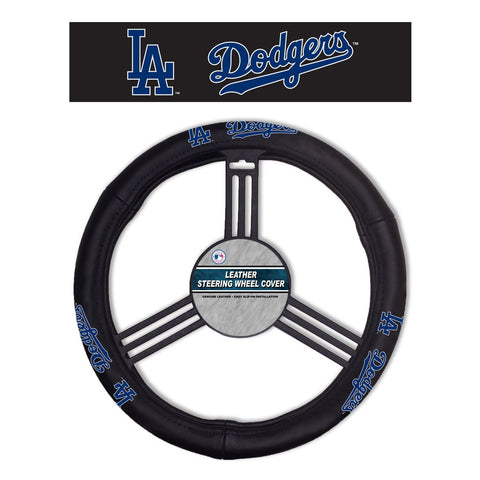 MLB Los Angeles Dodgers Leather Steering Wheel Cover