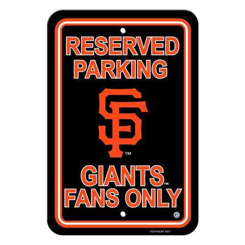 MLB SAN FRANCISCO GIANTS RESERVED PARKING SIGN