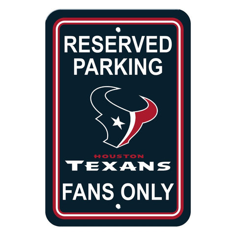NFL Houston Texans Reserved Parking Sign