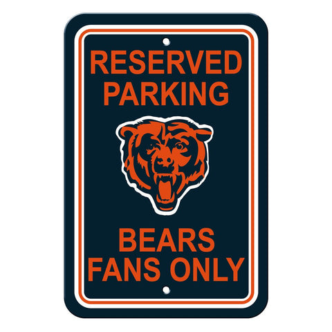 NFL Chicago Bears Reserved Parking Sign