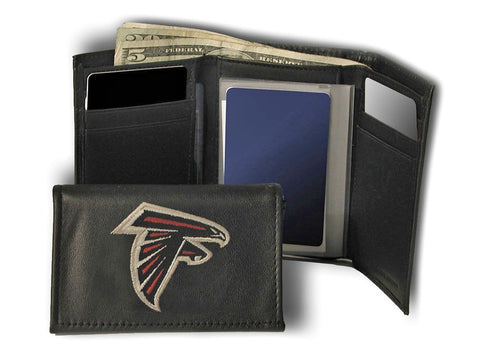Atlanta Falcons Wallet Trifold Leather Embroidered