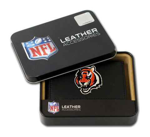 Cincinnati Bengals Wallet Trifold Leather Embroidered