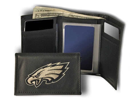 Philadelphia Eagles Wallet Trifold Leather Embroidered
