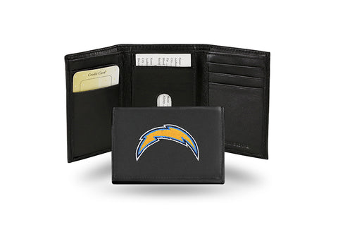 Los Angeles Chargers Wallet Trifold Leather Embroidered