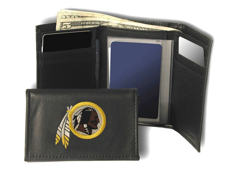 Washington Redskins Wallet Trifold Leather Embroidered