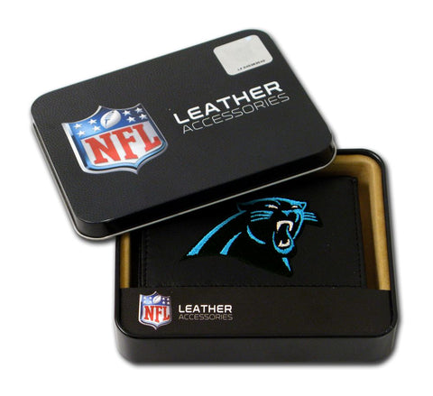 Carolina Panthers Wallet Trifold Leather Embroidered