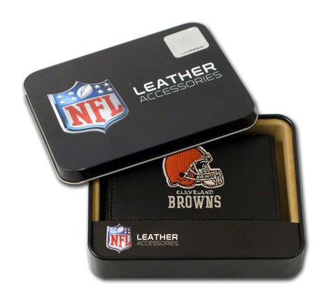Cleveland Browns Wallet Trifold Leather Embroidered