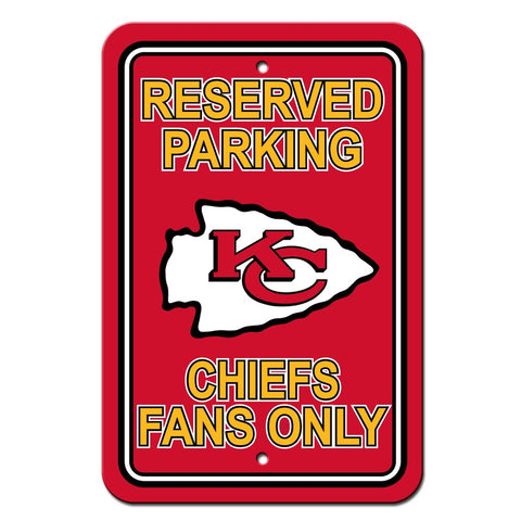 NFL Kansas City Chiefs Reserved Parking Sign