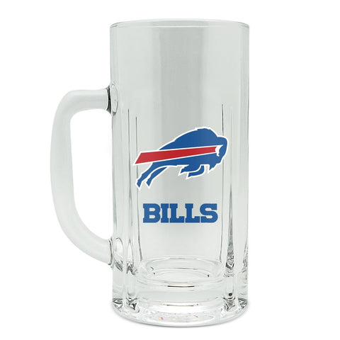 BUFFALO BILLS GLASS HEAVY DUTY KRAFT MUG - 20 oz