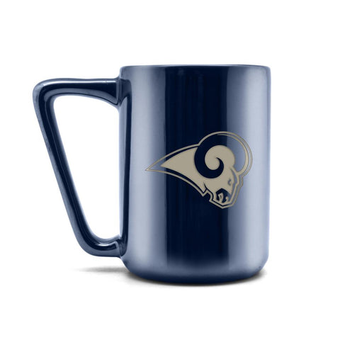 LOS ANGELES RAMS CERAMIC MUG W LASER ENGRAVED LOGO 16 OZ.