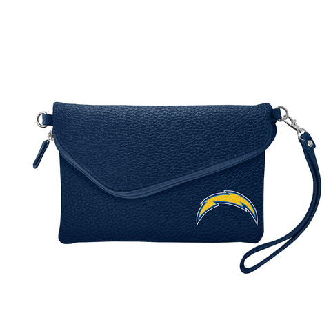 San Diego Chargers Fold Over Crossbody Pebble (Navy)