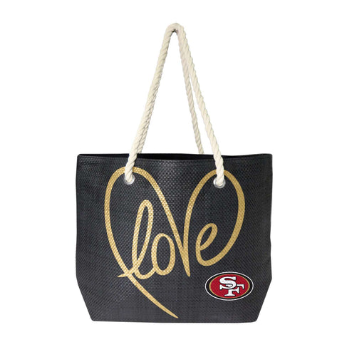 San Francisco 49ers Rope Tote (Black Gold)